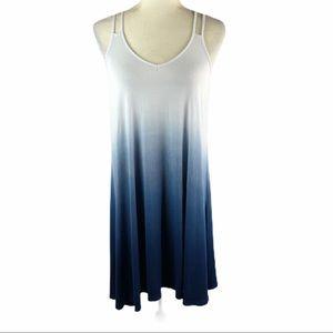Lucy & Laurel Blue Ombre Dress